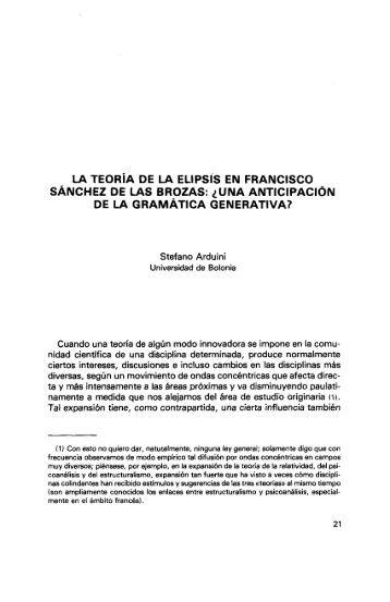 la teoría de la elipsis en francisco sánchez de las brozas - RUA