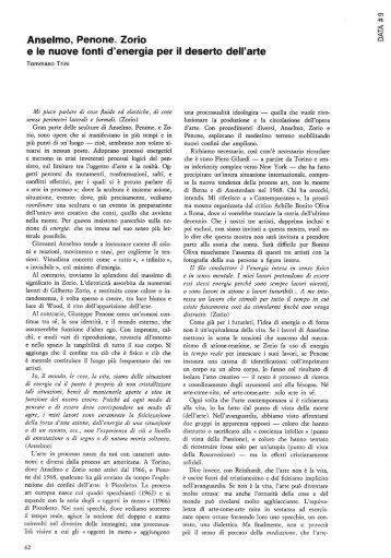 Anselmo, Penone, Zorio e la nuovi fonti d'energia per il ... - artslab