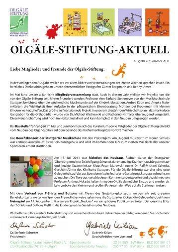 OLGÄLE-STIFTUNG-AKTUELL - Olgäle Stiftung für das kranke Kind