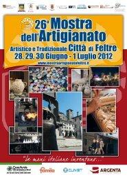 Catalogo MOSTRA 2012 - Mostra dell'artigianato artistico e ...