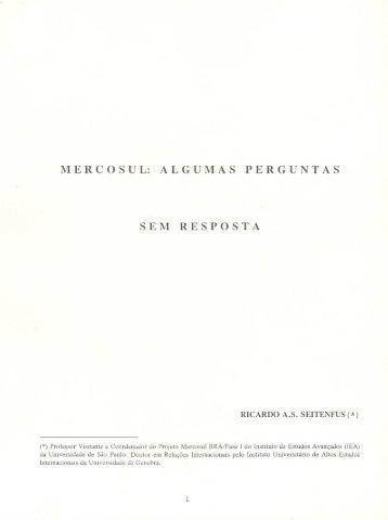 Mercosul: algumas perguntas sem resposta