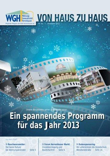 Ein spannendes Programm für das Jahr 2013