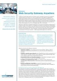 Web Security Gateway Anywhere - Websense