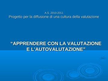 Progetto Apprendere con la Valutazione e L Autovalutazione.pdf
