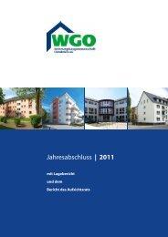 Geschäftsbericht 2011 - Wohnungsbaugenossenschaft Osnabrück eG