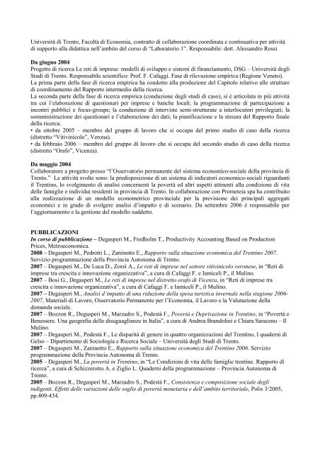 Curriculum vitae - dieresi diritto e reti sociali e di imprese