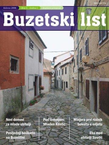 Pod ladonjom: Mladen Kontić Minjera prvi rudnik ... - Grad Buzet
