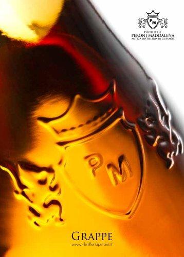 Depliant grappe - Distillerie Peroni Maddalena