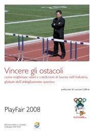 Vincere gli ostacoli - Play Fair 2008