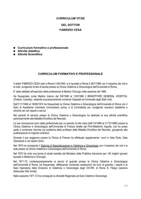 scarica il curriculum vitae - Bios International