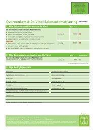 Overeenkomst Da Vinci Salonautomatisering