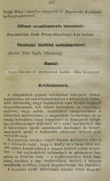 6 Zsebkönyv1918 pp265-336.pdf - Magyar Királyi Csendőrség