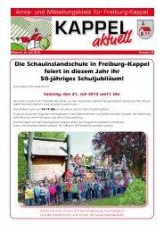 Die Schauinslandschule in Freiburg–Kappel feiert in diesem Jahr ihr ...