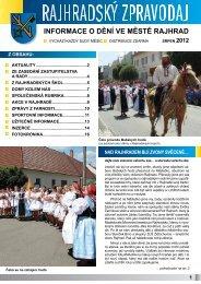 zpravodaj srpen 2012 - Město Rajhrad