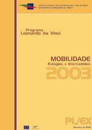 Estágios e Intercâmbios Programa Leonardo da Vinci - Portugal