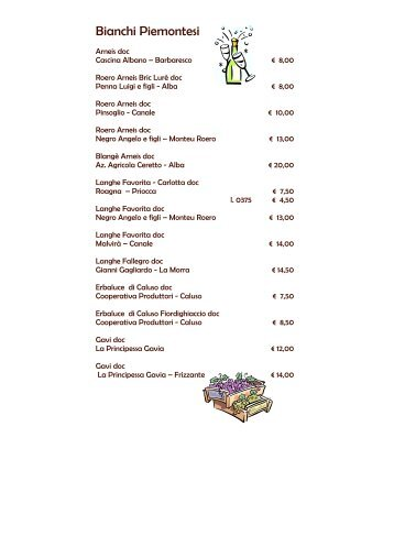 Guarda la Carta dei Vini - Ristorante Sarvanot