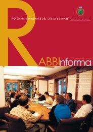 Rabbinforma 1 2009.indd - Comune di Rabbi