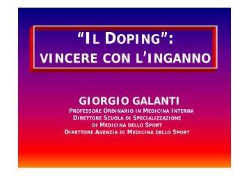 Il doping: vincere con l'inganno (.pdf) - Cardiosport.it