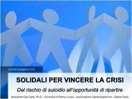 SOLIDALI PER VINCERE LA CRISI - Associazione Speranzaallavoro