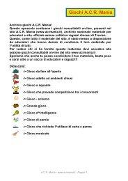 Giochi A.C.R. Mania - Repartoandromeda.altervista.org