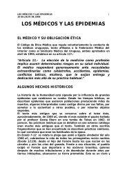 Los médicos y las epidemias. - Sindicato Médico del Uruguay
