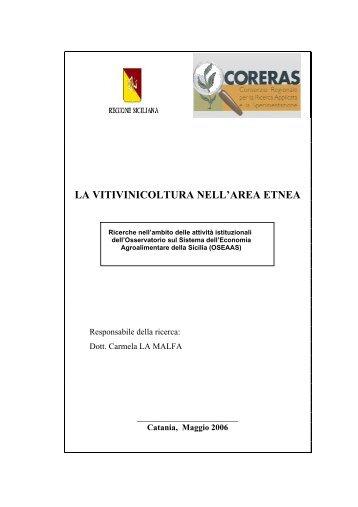 5. la vitivinicoltura nell'area etnea - Coreras
