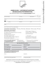 Anmeldung Musikalische Früherziehung - Wiesbadener Musik