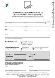 Anmeldung Musikalische Eltern-Kind-Gruppe - Wiesbadener Musik