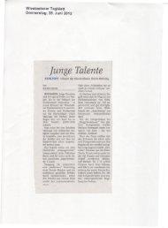 Rezension Klavierabend Klasse Meining, Wiesbadener Tagblatt ...