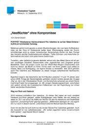 """""""Nestflüchter"""" ohne Kompromisse - Wiesbadener Musik"""