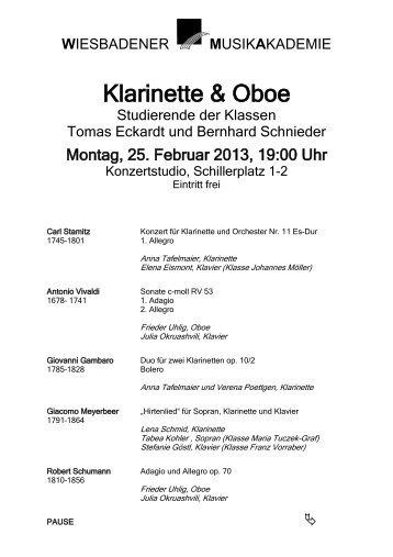 Klarinette & Oboe