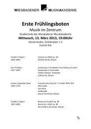Erste Frühlingsboten - Wiesbadener Musik