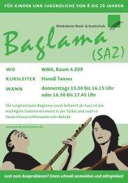 Infoflyer Baglama - Wiesbadener Musik