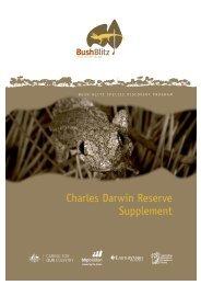 Charles Darwin Reserve Supplement - BushBlitz