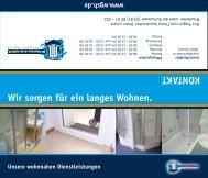 Flyer Bautechnik - Wohnungsgenossenschaft Schiffahrt - Hafen ...