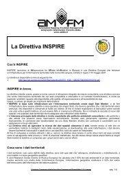 La Direttiva INSPIRE - AMFM