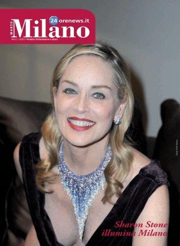 Sharon Stone illumina Milano