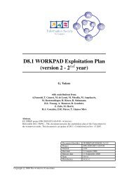D8.1 WORKPAD Exploitation Plan - Dipartimento di Ingegneria ...