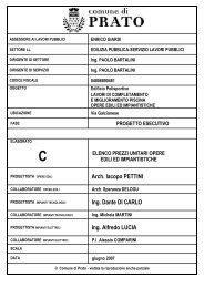 Elaborato C - Elenco prezzi unitari opere edili ed ... - Comune di Prato