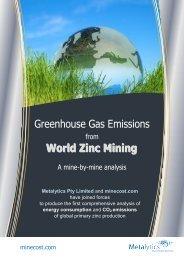 World Zinc Mining - World Mine Cost Data Exchange