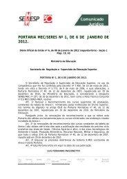 PORTARIA MEC/SERES Nº 1, DE 6 DE JANEIRO DE 2012. - FCAT
