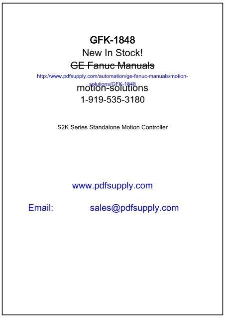 GE Fanuc Manuals | Series 90-70 9070 | GFK-2055 - GE Fanuc PLC