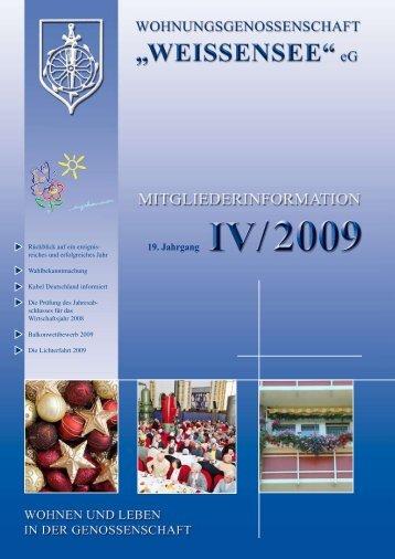 Mitgliederinformation IV/2009 - Wohnungsgenossenschaft ...
