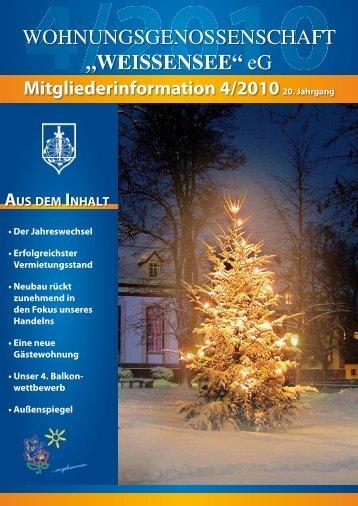 Mitgliederinformation 4/2010 - Wohnungsgenossenschaft ...