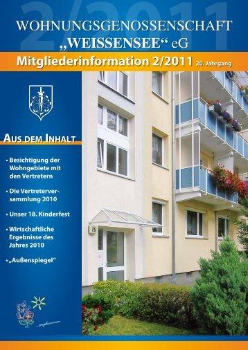 Mitgliederinformation 2/2011 - Wohnungsgenossenschaft ...
