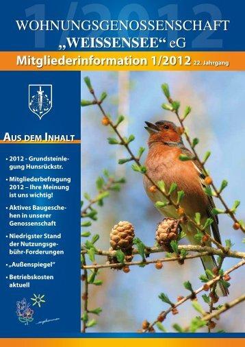 Mitgliederinformation 1/2012 - Wohnungsgenossenschaft ...