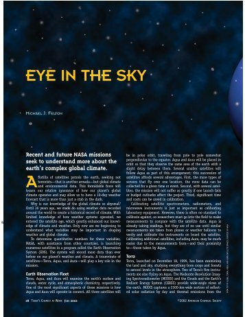 EYE IN THE SKY - American Chemical Society Publications