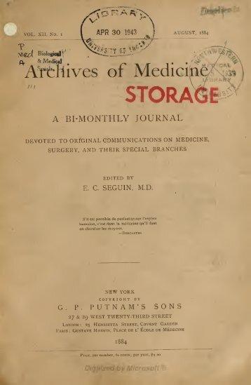 ^Artliives of Medicin - Index of