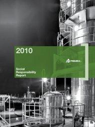 Social Responsibility Report 2010 - PEMEX.com
