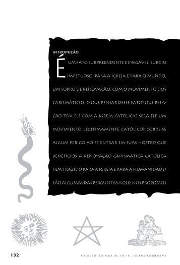 Carismáticos e a Igreja Católica Frei Luis Maria A. Sartóri - USP